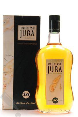 Isle of Jura 10 years Old Square Map Label 100cl - Old Bottling