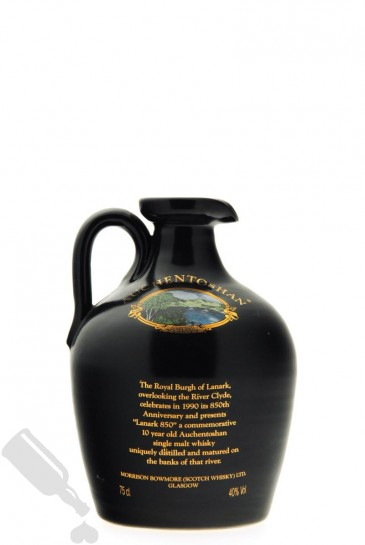 Auchentoshan 10 years Lanark 850 75cl - Black Ceramic Decanter