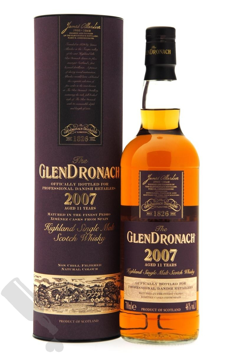 GlenDronach 11 years 2007 for Professional Danish Whisky Retailers