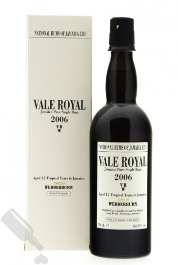 Vale Royal 12 years 2006 - 2018 National Rums of Jamaica