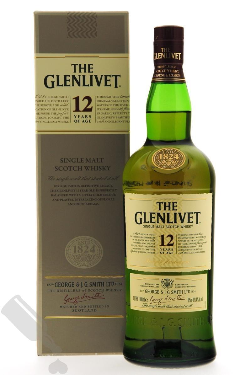 Glenlivet 12 years 100cl - Old Bottling