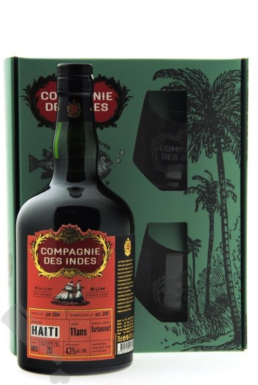 Barbancourt 11 years 2004 - 2015 #BMH18 Compagnie des Indes - Giftpack
