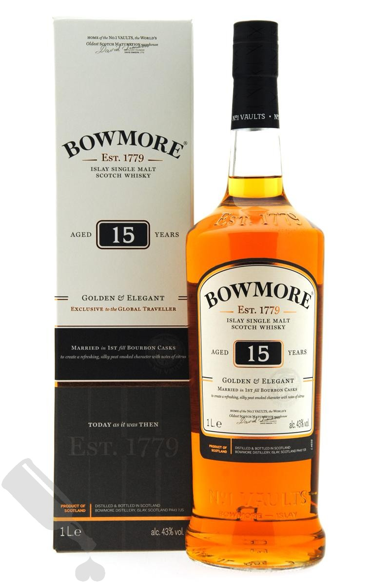 Bowmore 15 years Golden & Elegant 100cl