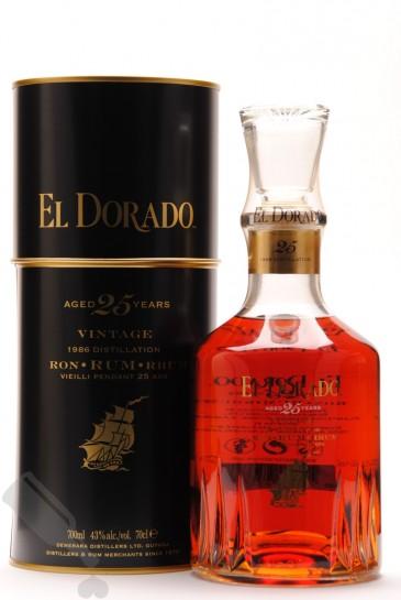 El Dorado 25 years Vintage 1986