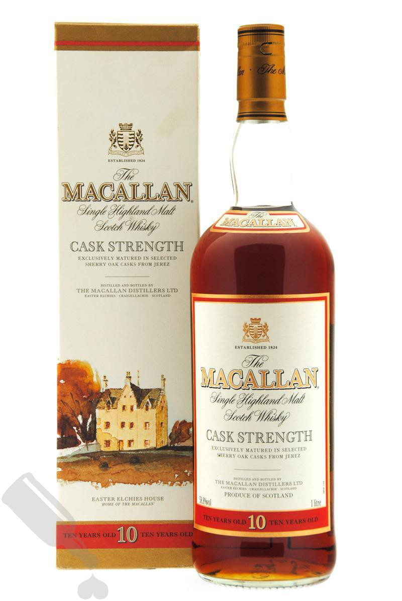 Macallan 10 years Cask Strength 100cl - Old Bottling