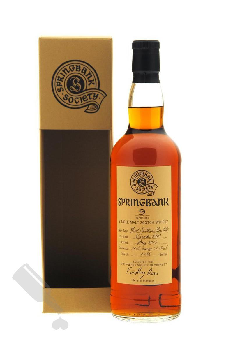 Springbank 9 years 2007 - 2017 Society Bottling
