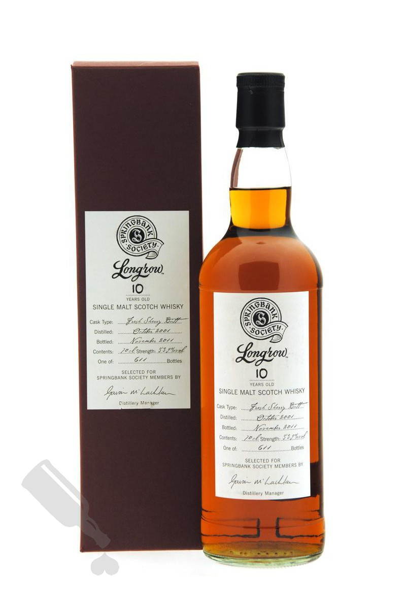 Longrow 10 years 2001 - 2011 Society Bottling