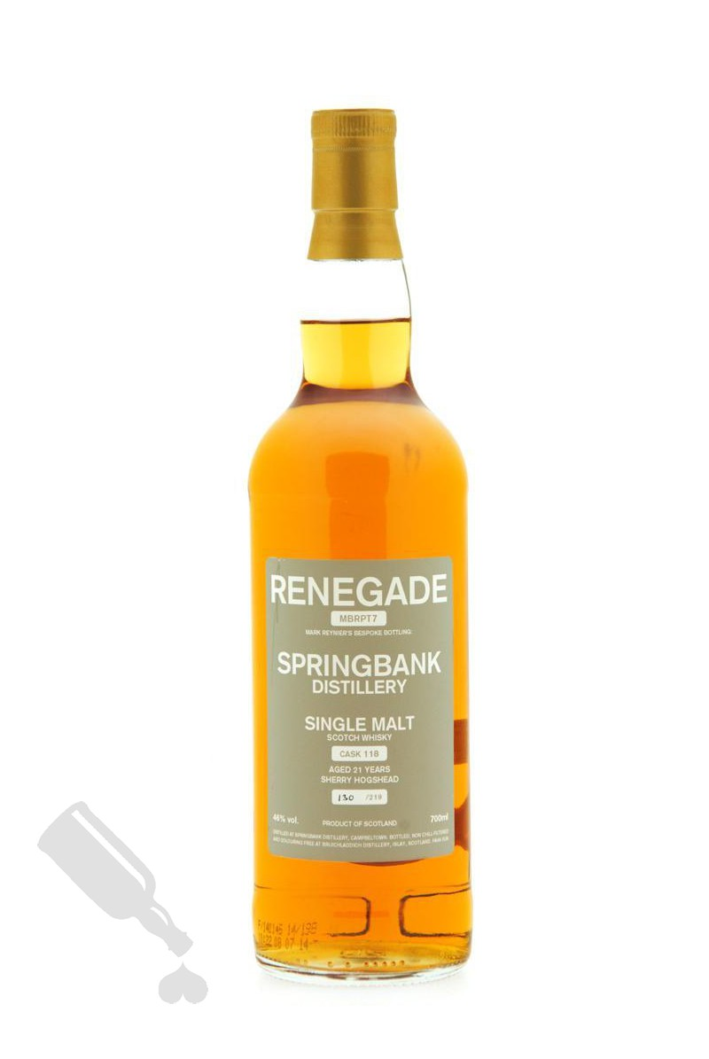 Springbank 21 years #118 Renegade MBRPT7