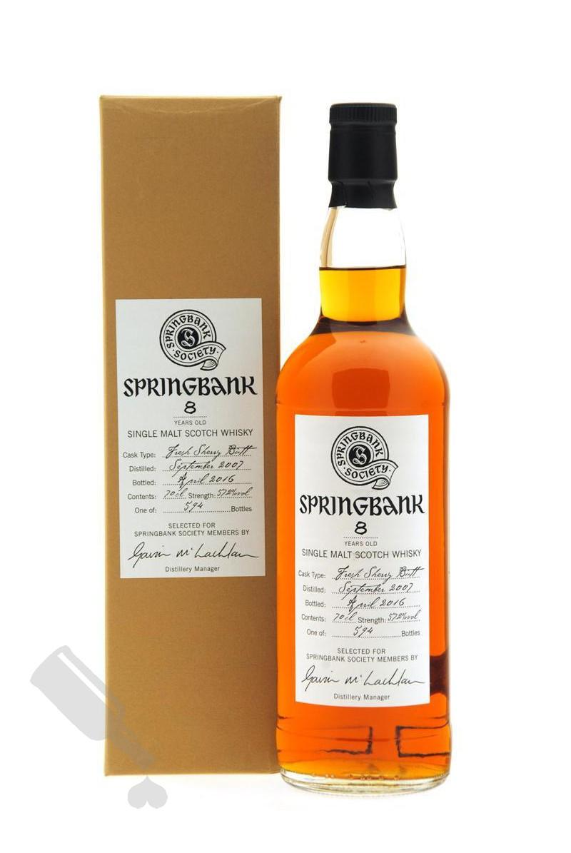 Springbank 8 years 2007 - 2016 Society Bottling