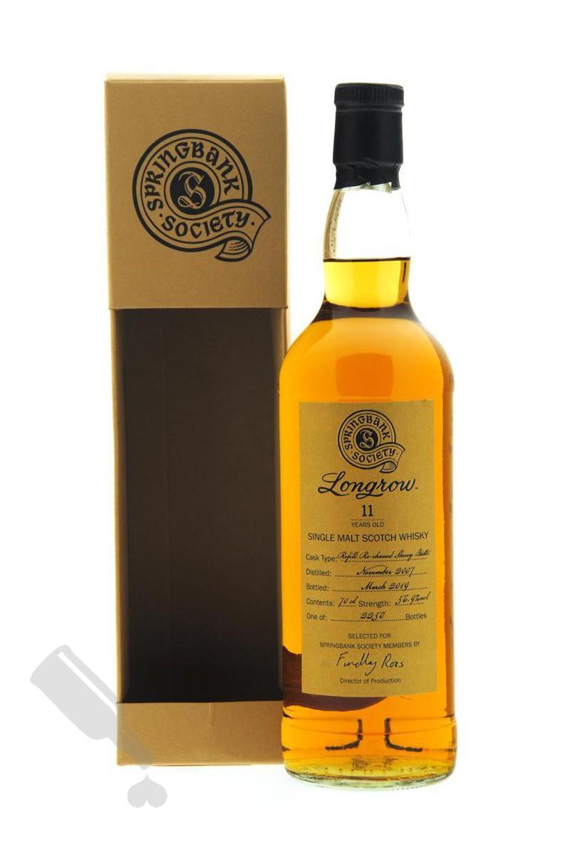 Longrow 11 years 2007 - 2019 Society Bottling