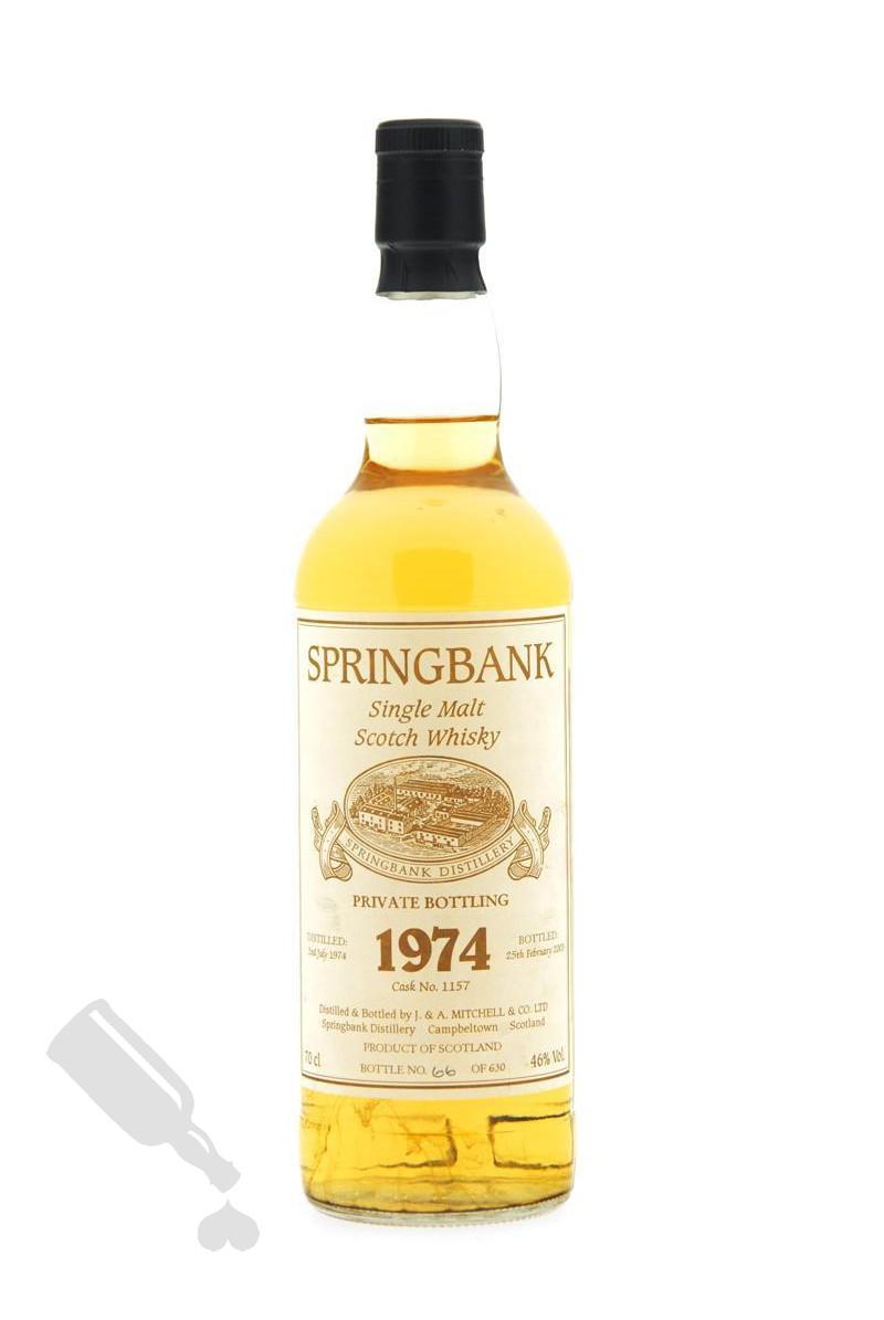 Springbank 1974 - 2003 #1157 Private Bottling