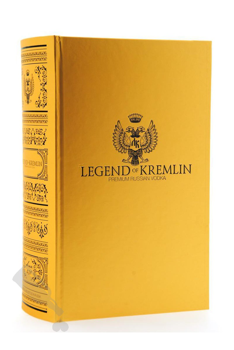 Legend Of Kremlin Vodka in Gold Book