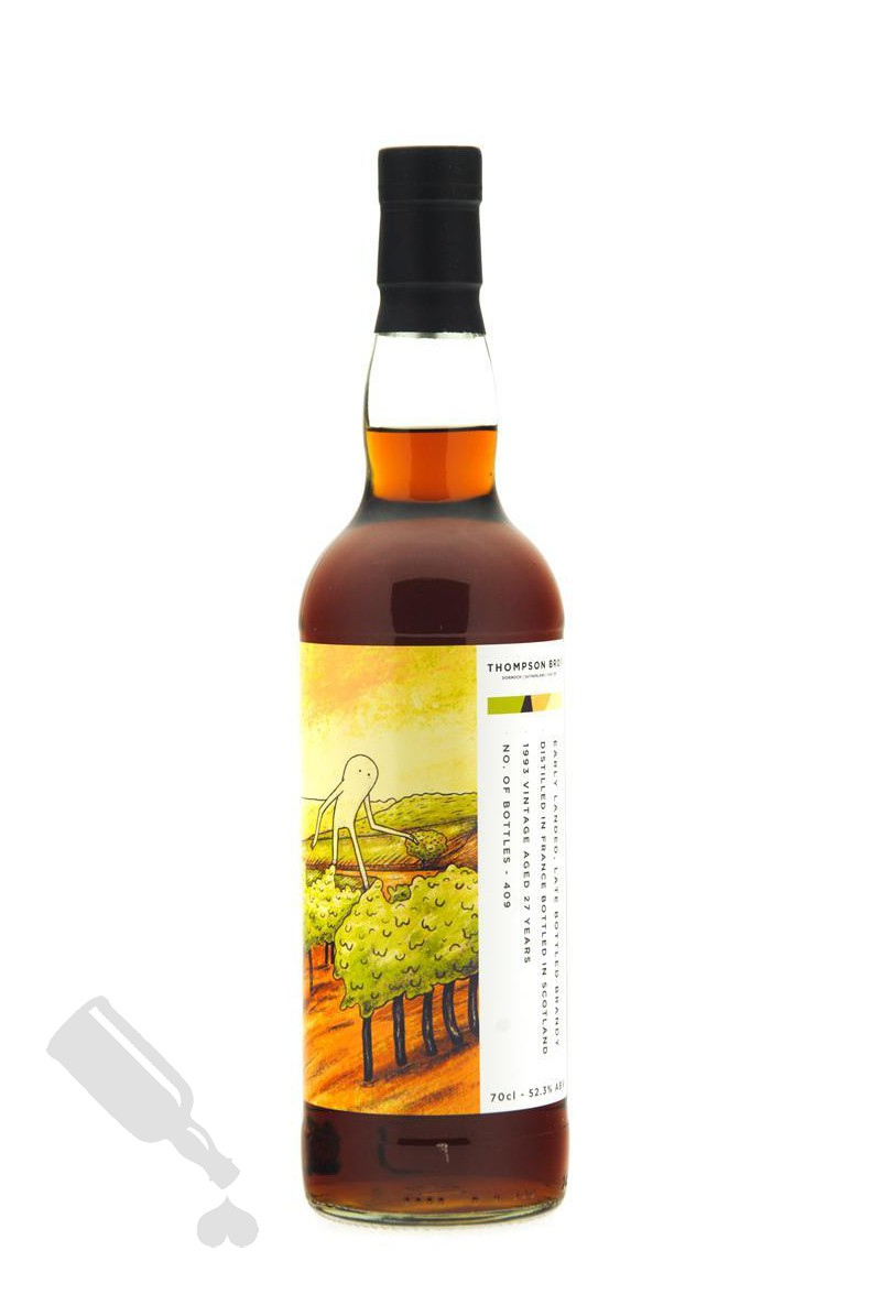 Early Landed, Late Bottled Brandy 27 years 1993 - 2020 Thompson Bros.