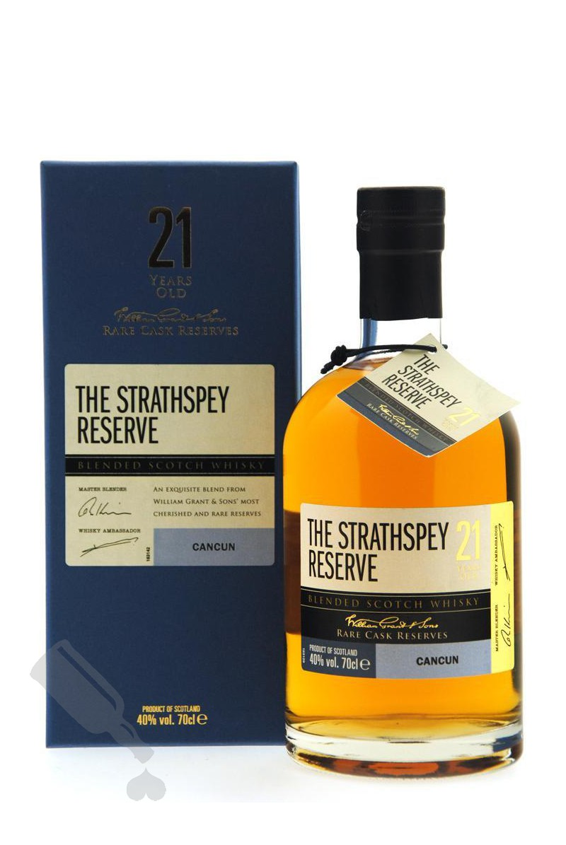 The Strathspey Reserve 21 years Rare Cask Reserves Cancun