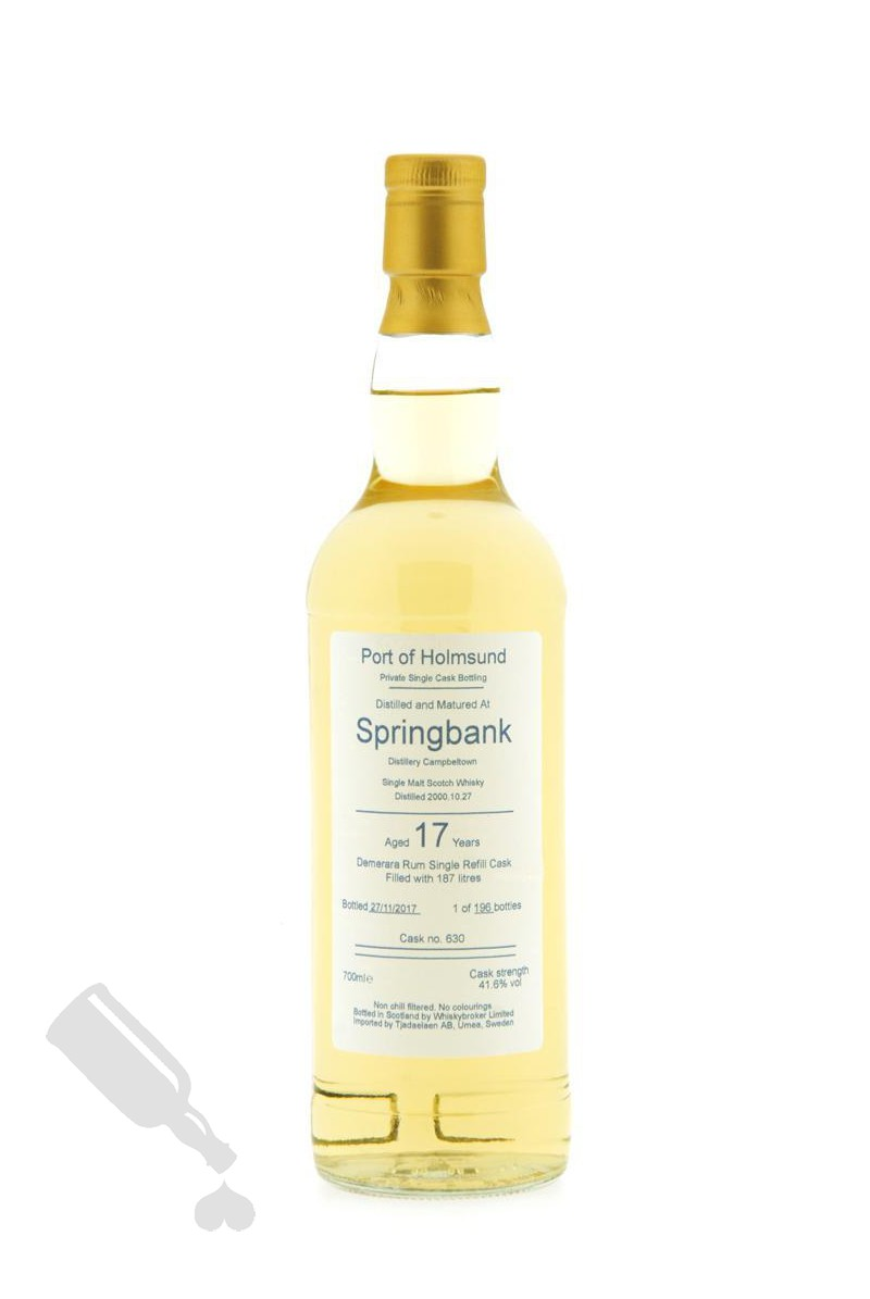 Springbank 17 years 2000 - 2017 #630 for Port of Holmsund