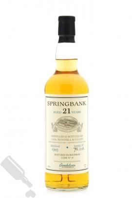 Springbank 21 years 1993 Bourbon Cask No.18 for HWM