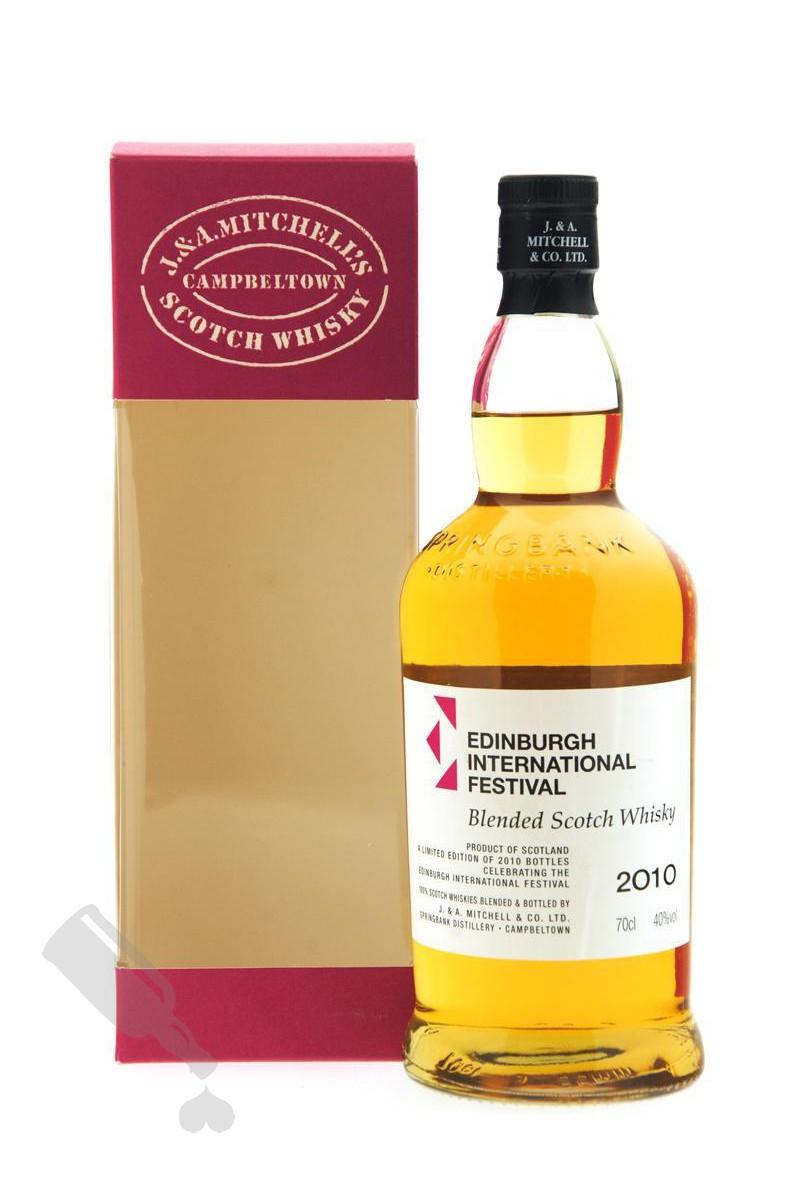 J. & A. Mitchell Blended Scotch Whisky for Edinburgh International Festival 2010