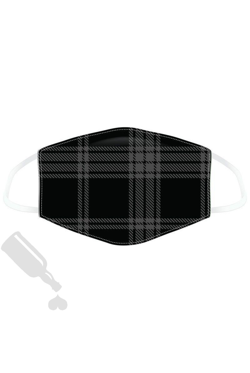 Black and Grey Tartan Face Cover