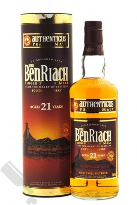 BenRiach 21 years Authenticus - Peated