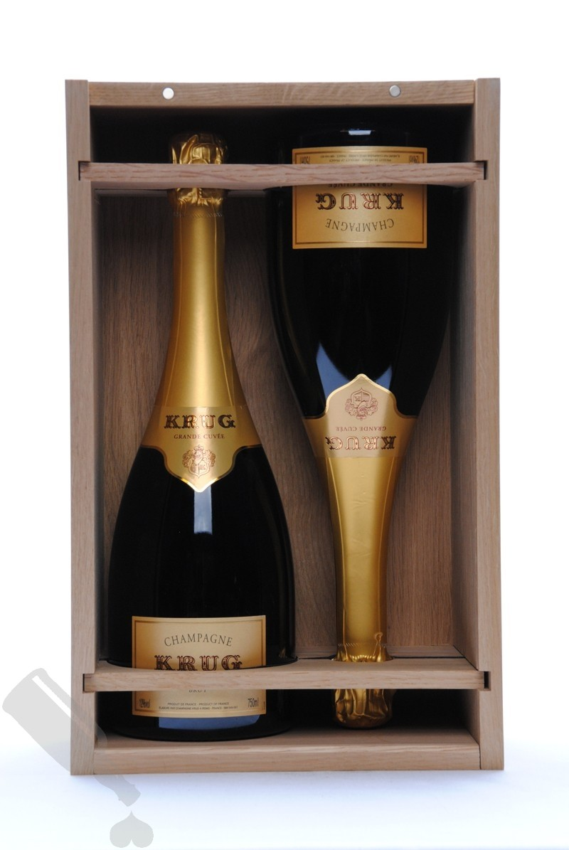 Krug Grande Cuvée Brut - 2 bottles in original wooden box