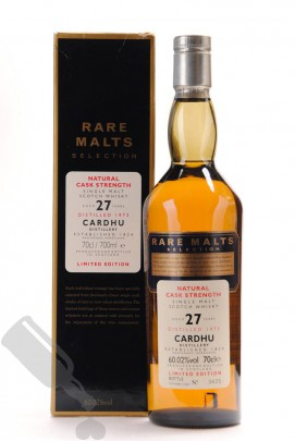 Cardhu 27 years 1973 - 2000