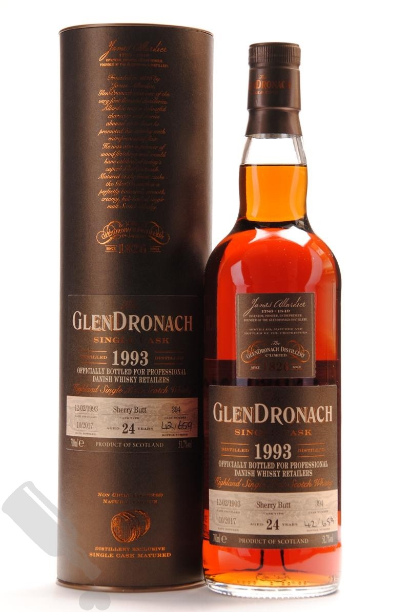 GlenDronach 24 years 1993 - 2017 #394 for Professional Danish Whisky Retailers