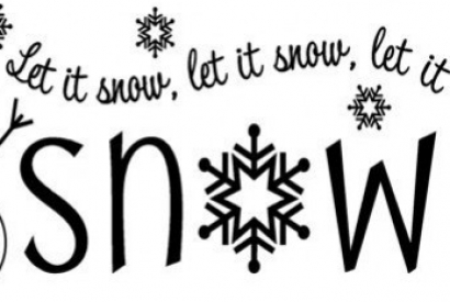 Let it snow, let it snow, let it snow….